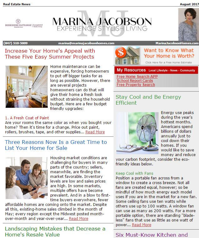 August 2017 Real Estate News