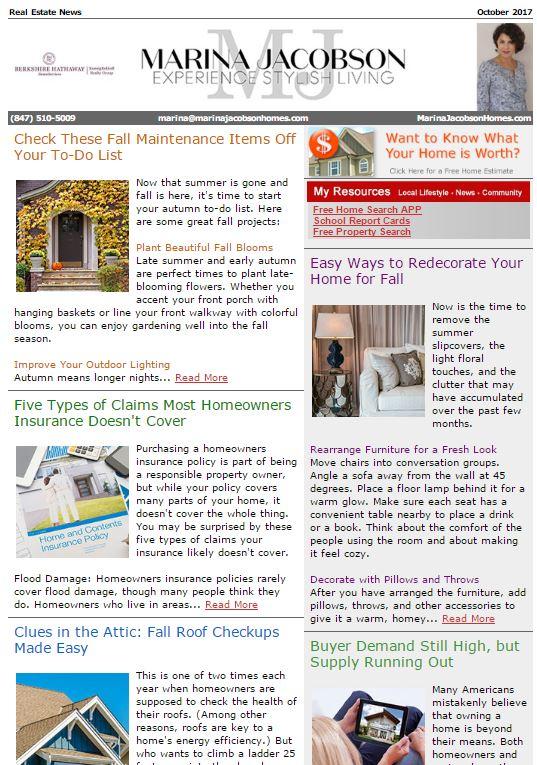 October 2017 Real Estate News