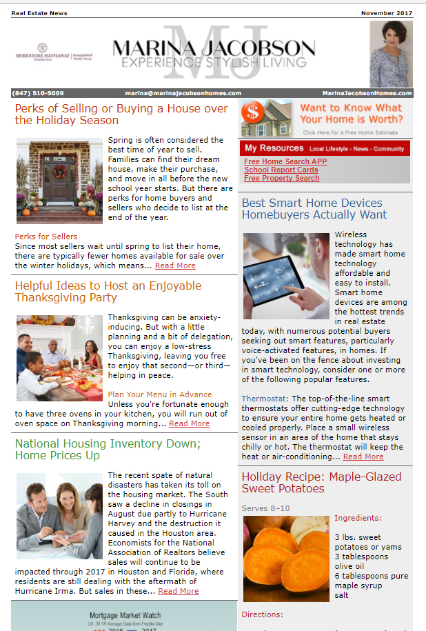 November 2017 Real Estate News