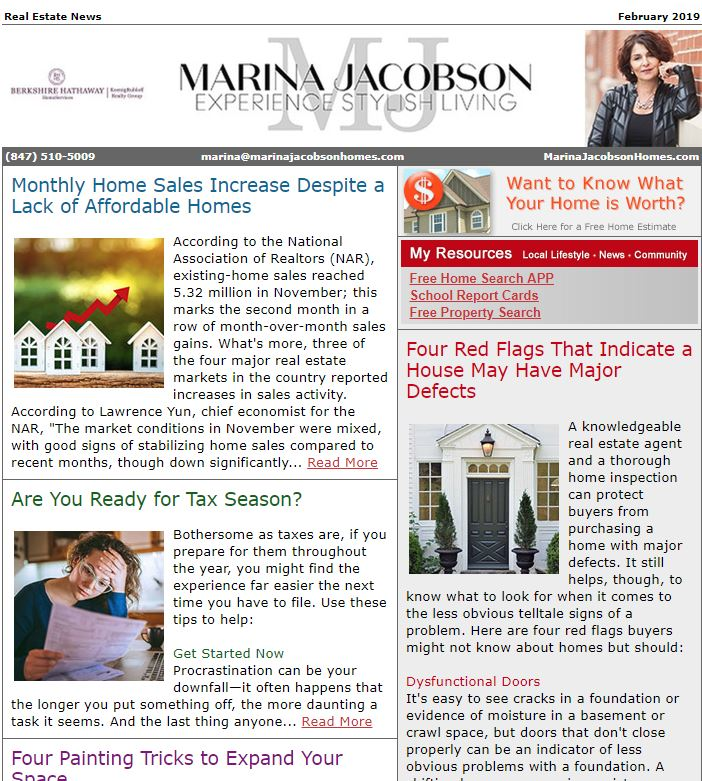 February 2019 Real Estate News - Marina Jacobson Homes